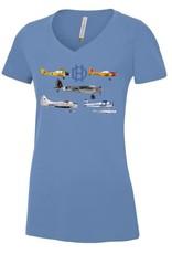 T-shirt De Havilland Montage - Ladies