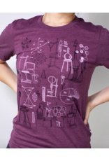 T-shirt avec illustrations d'instruments scientifiques