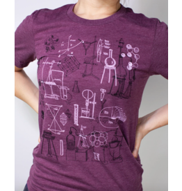 Chemistry Lab Scientific Illustration Tee Shirt