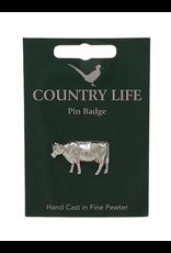 Pewter Cow Pin