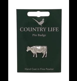 Épinglette de vache en étain