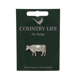 Pewter Cow Pin