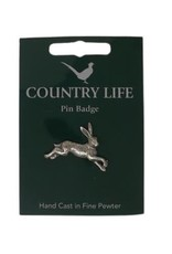 Pewter Hare Pin