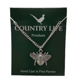 Pewter Bee Necklace