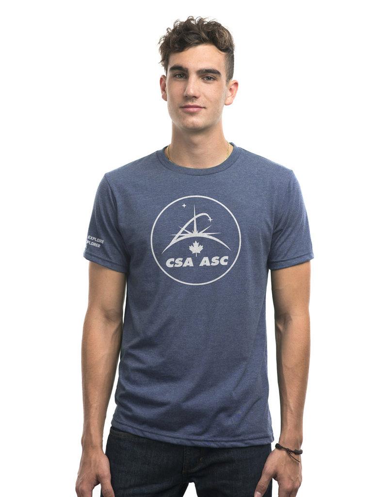 T-shirt ASC Osez explorer à manche courtes unisexe en gris