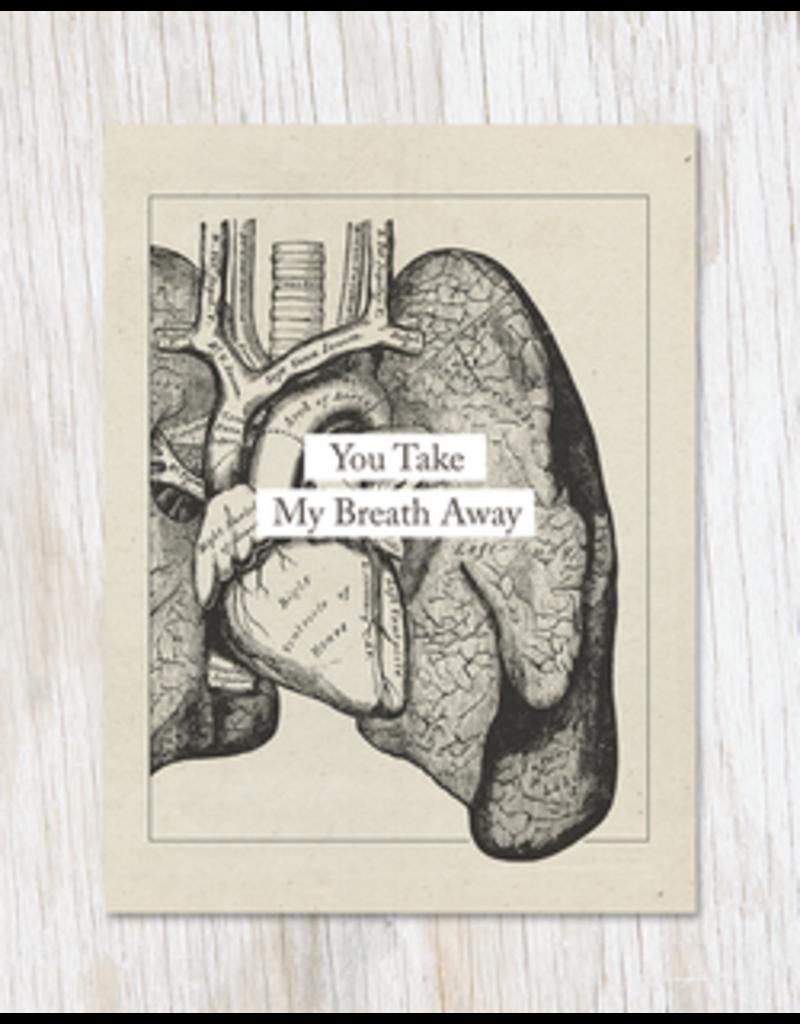 "Carte de voeux ""You Take My Breath Away"""