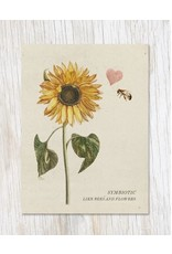 Symbiotic Like Bees & Flowers Card