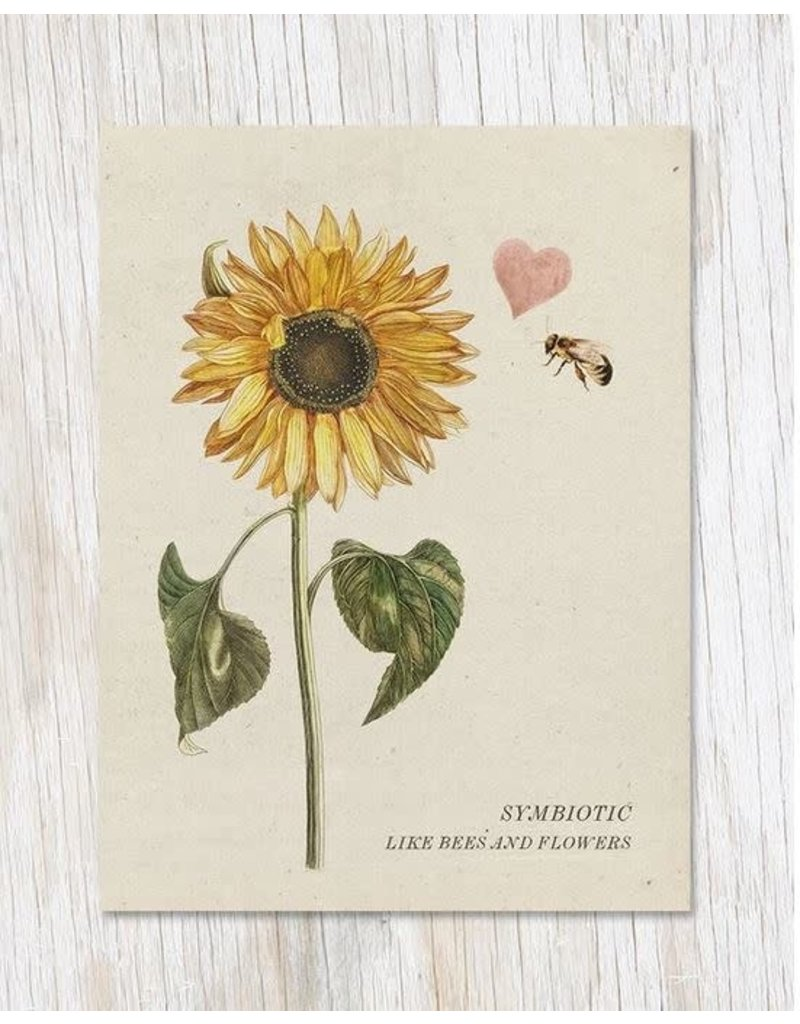 """Carte de voeux """"Symbiotic Like Bees & Flowers"""""""
