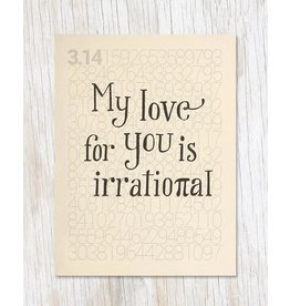 "Carte de voeux ""Pi: Irrational Love"""