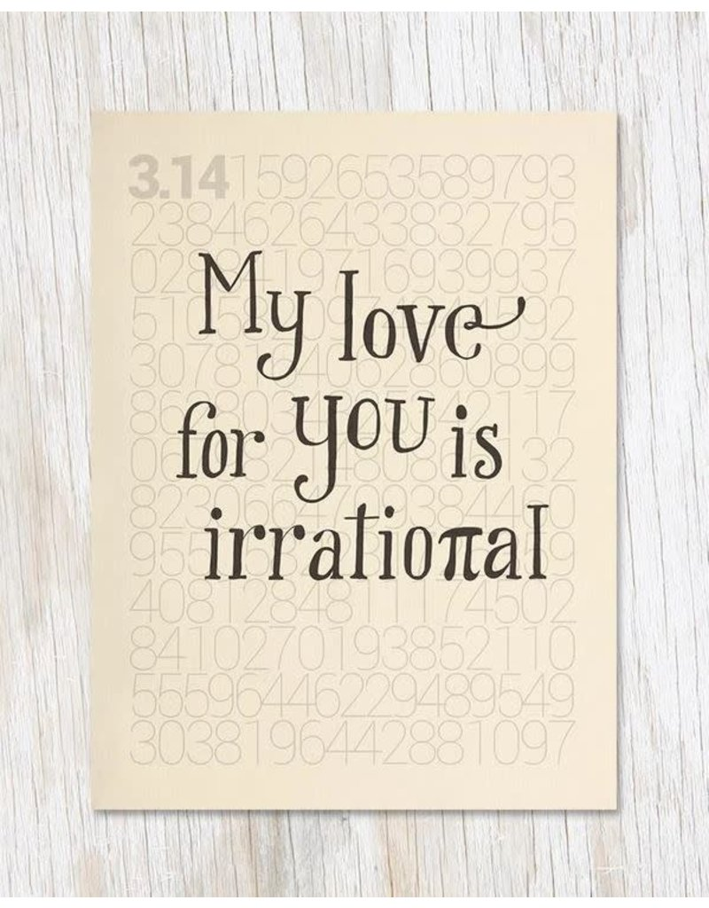 Pi: Irrational Love Card
