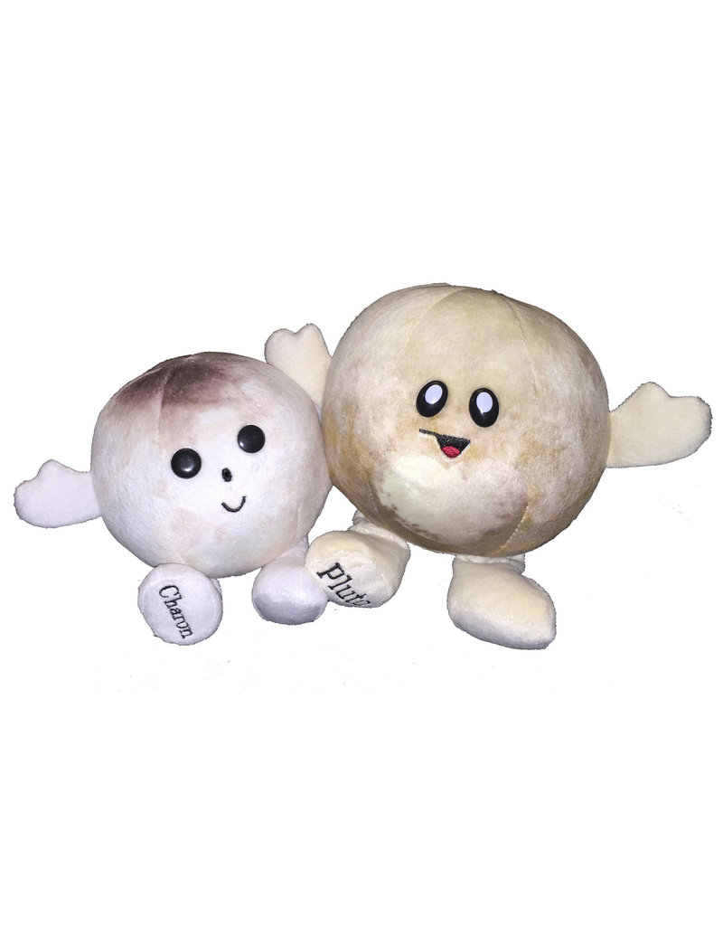 Plush Pluto and Charon