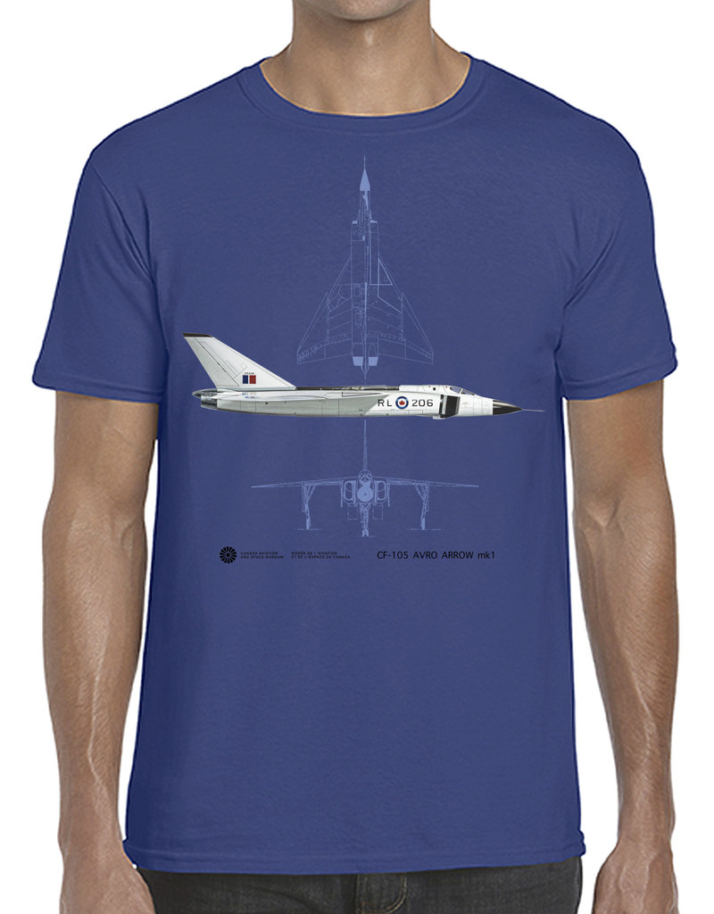 T-Shirt Avro Arrow - Blue