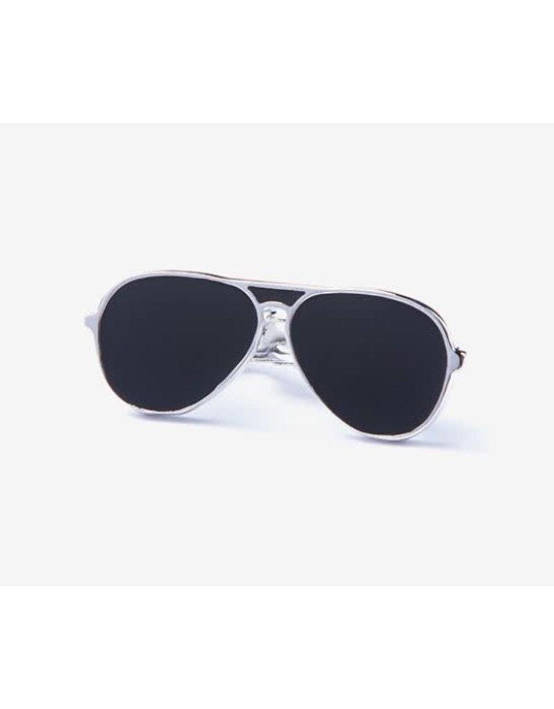 Aviator Sunglasses Black Tie Bar