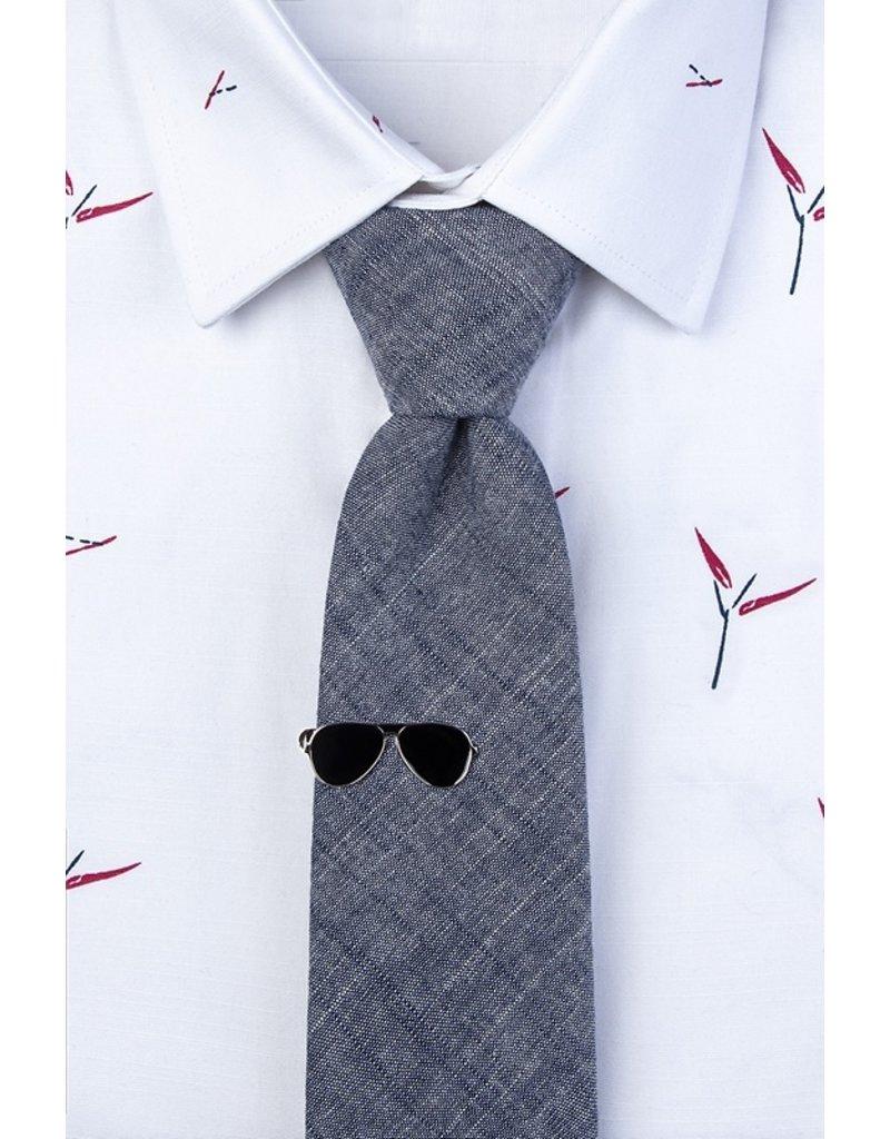 Épingle à cravate en forme de lunettes d'aviateur