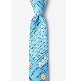 Cravate étroite bleue aux symboles chimiques