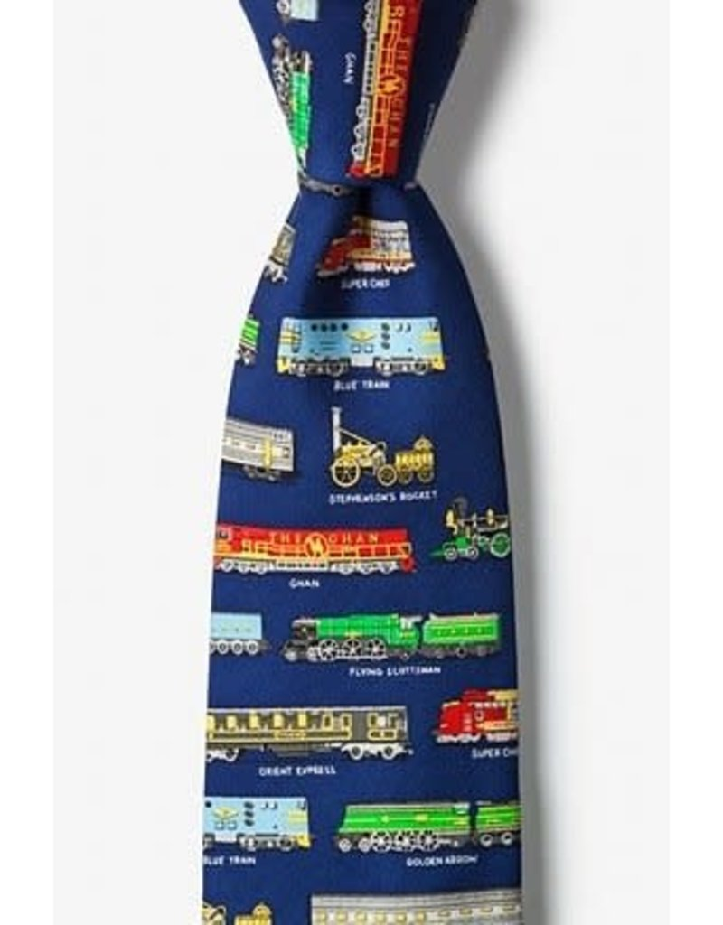 Cravate ferroviaire bleu marine