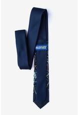 Cravate étroite bleu marine au boson de Higgs