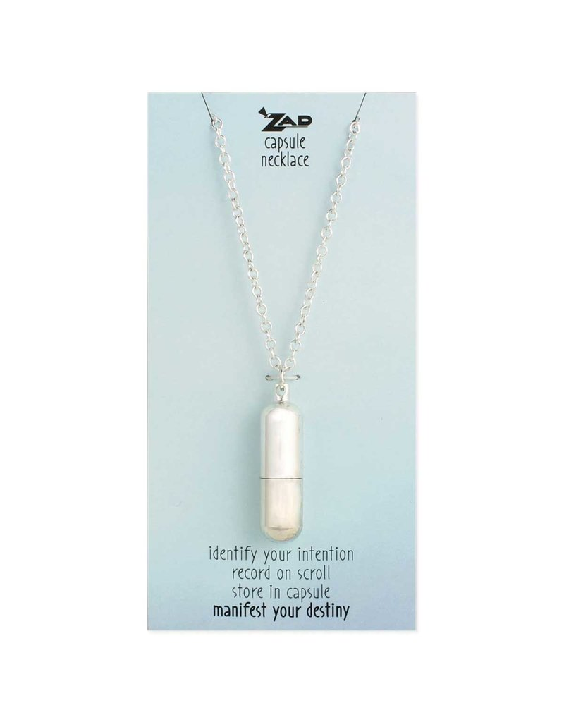 Necklace Silver Wish Capsule