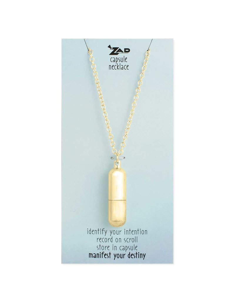 Necklace Gold Wish Capsule