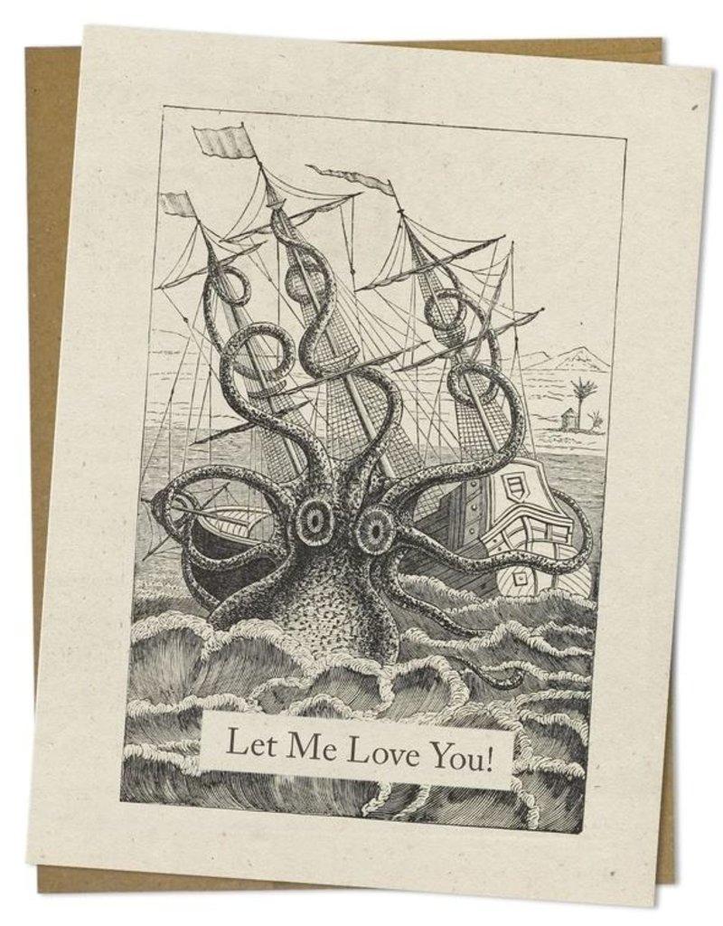 Let Me Love You! (Laisse-moi t'aimer!) Carte pieuvre