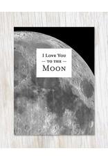 "Carte de voeux ""Love You to the Moon"""