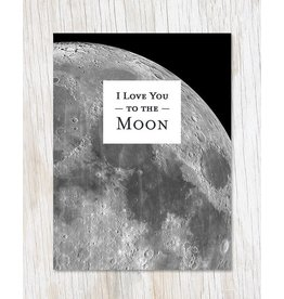 "Carte de voeux ""Love You to the Moon"""