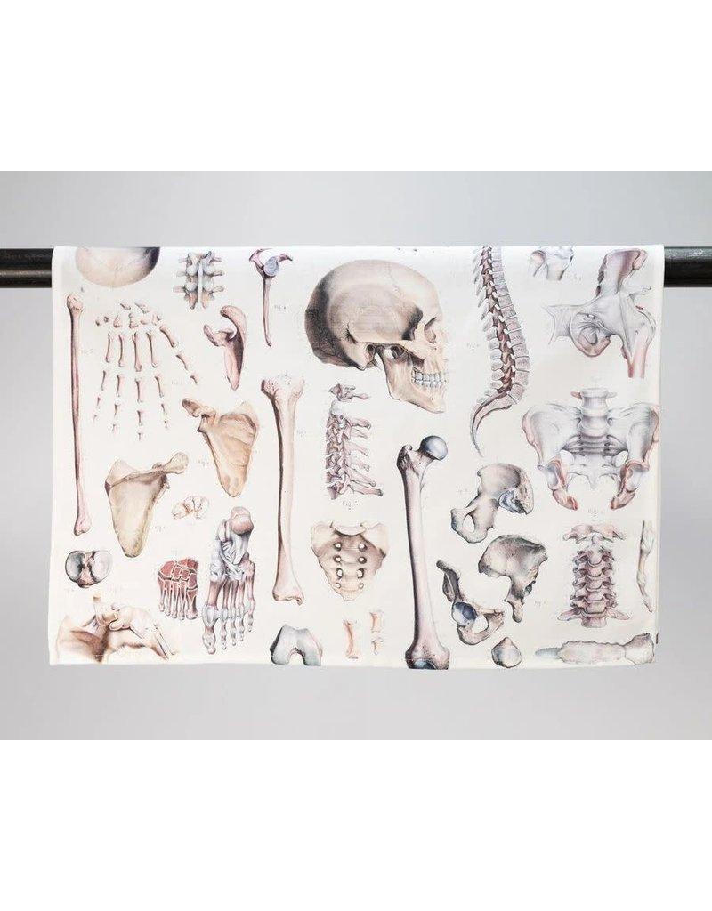 Skeleton Printed Tea Towel