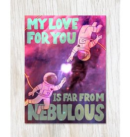 Nebulous Love Greeting Card