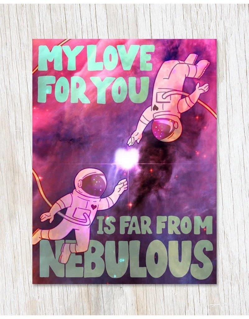 """Carte de voeux """"Nebulous Love"""""""