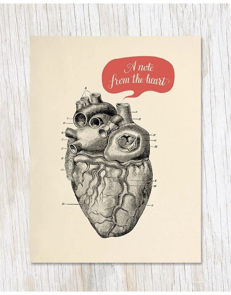 "Carte de voeux ""A Note From the Heart"""