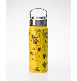 Bouteille avec illustrations d'abeilles mellifères