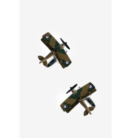 Flying Planes Brown Cufflinks
