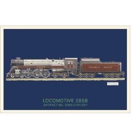 Carte postale de la locomotive 2858