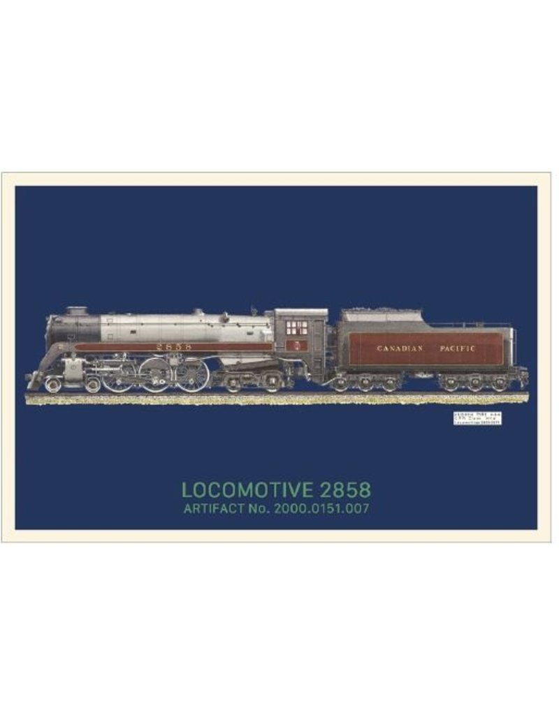 Carte postale de la locomotive 2858