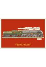 Carte postale de la locomotive 6400