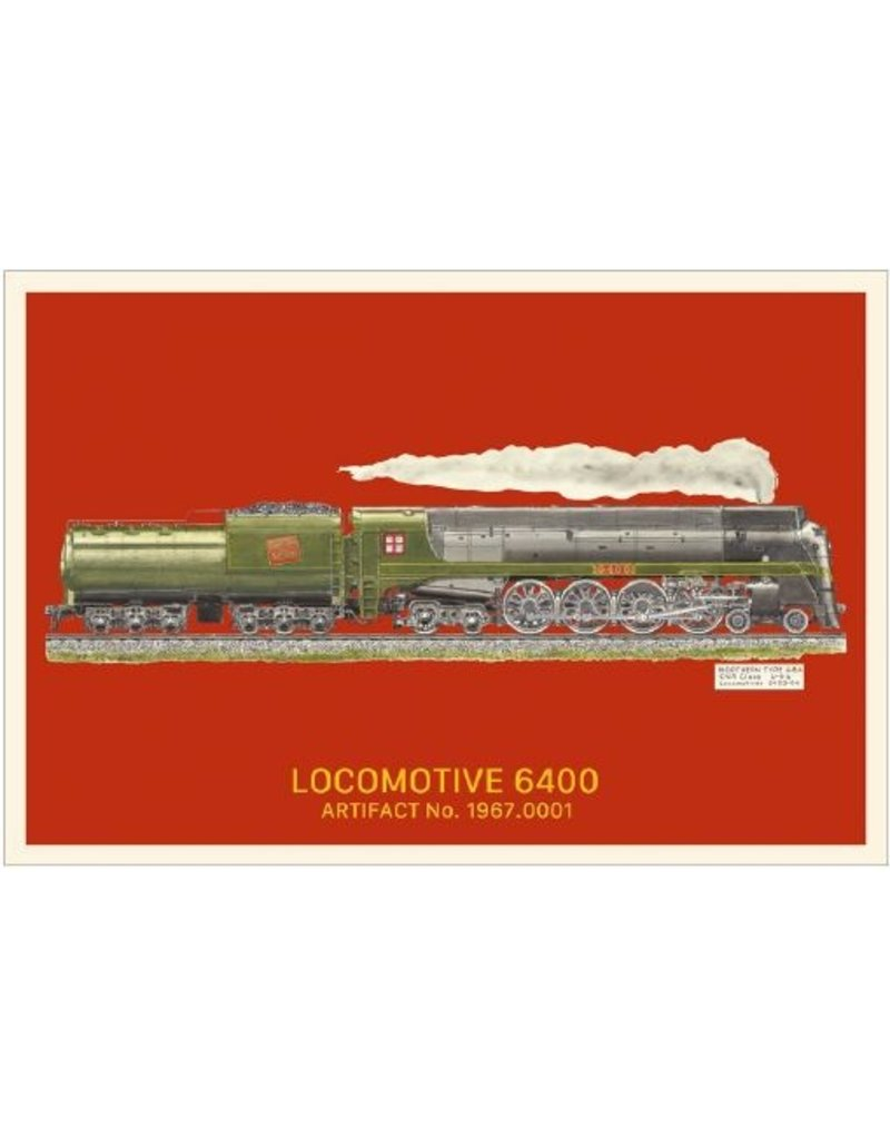 Postcard Locomotive 6400