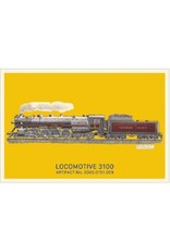 Carte postale de la locomotive 3100