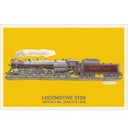 Carte postale de la locomotive 3100