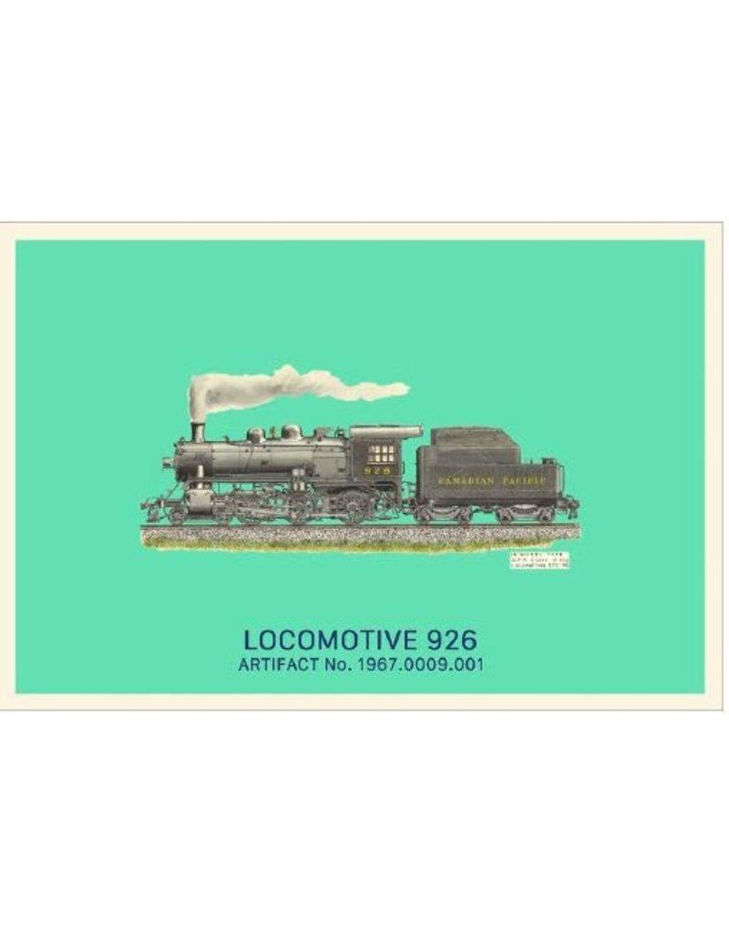 Carte postale de la locomotive 926