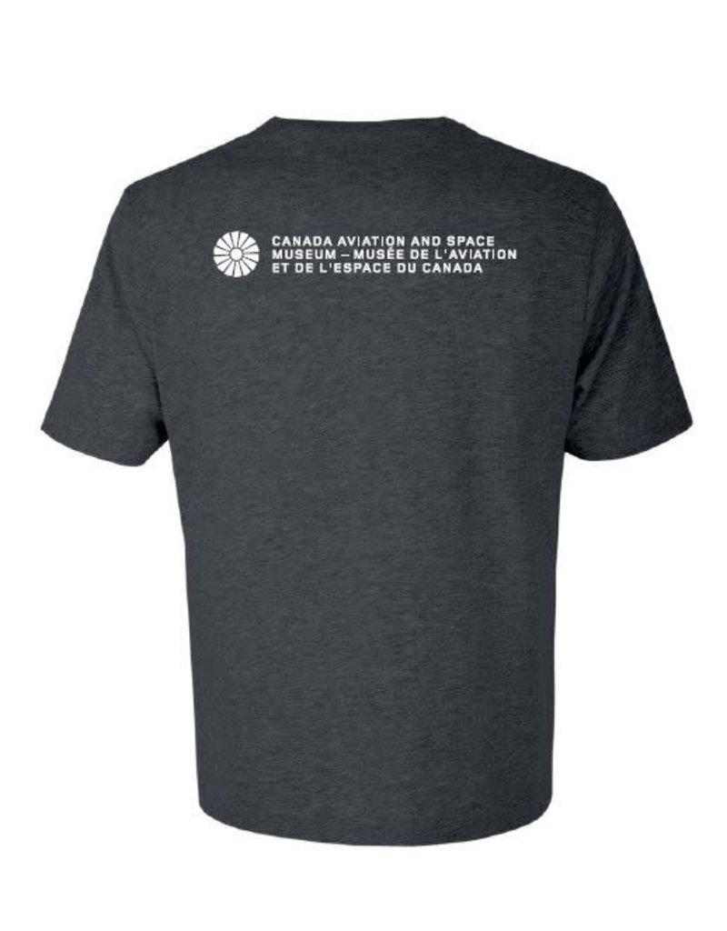 Men's Avro Arrow Distressed T-Shirt - Grey