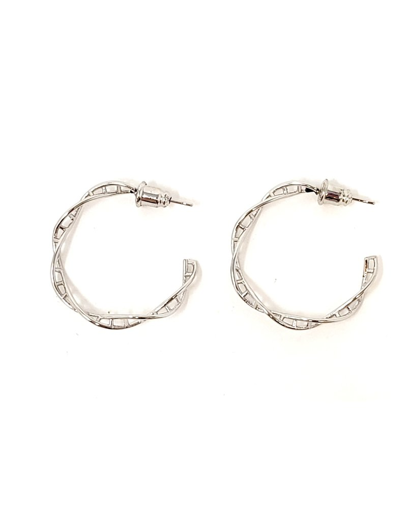 Hoop Earring Dna Twist Made With Tin Alloy
