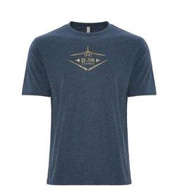T-shirt d'aspect usé pour homme Arrow d'Avro - Bleue