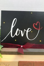 """Love"" Chalk Sign"