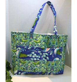 Large Sea Life Printed Tote Bag