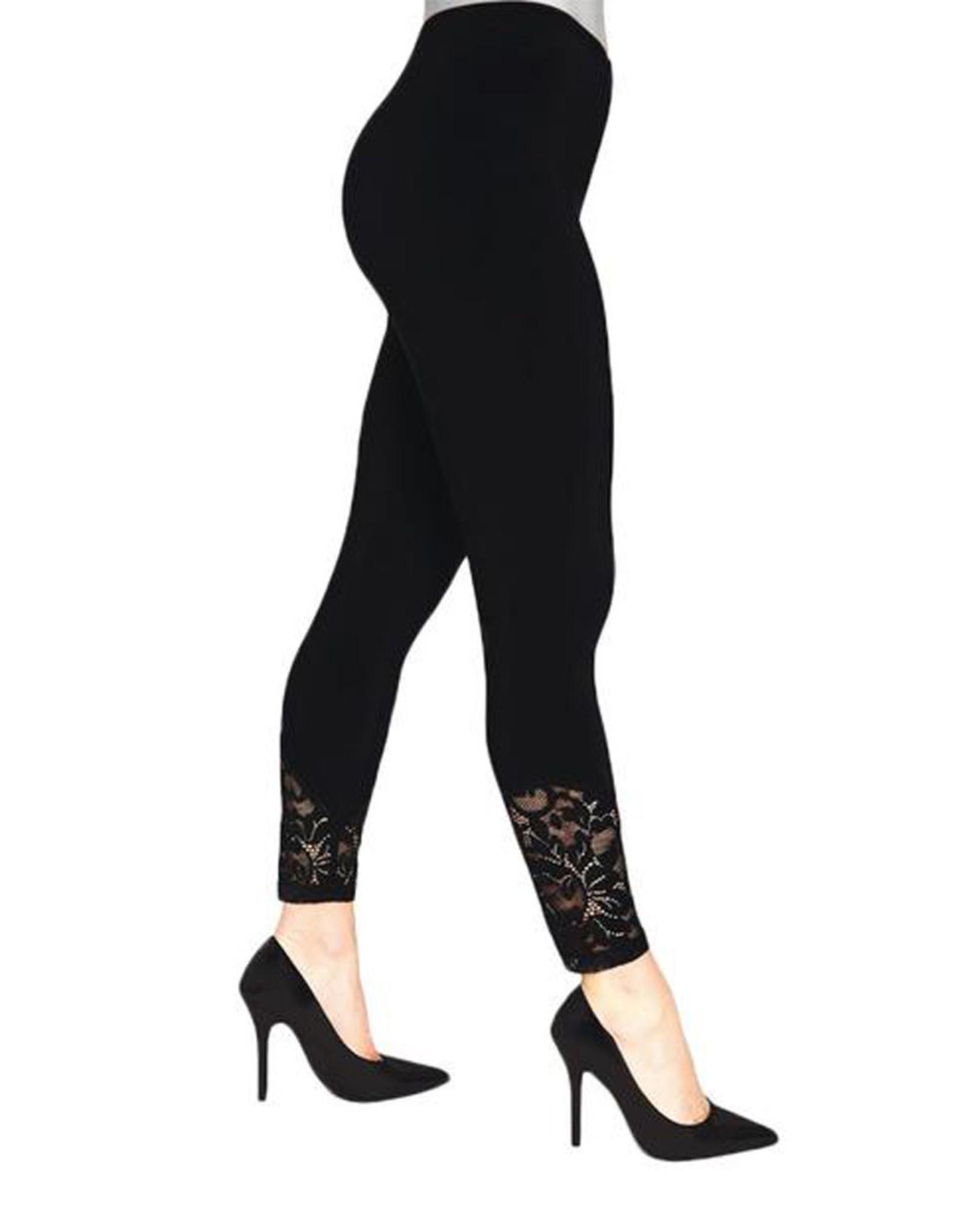 Sympli Lace Leggings - Black