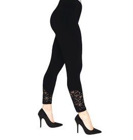 Sympli Lace Leggings - Black