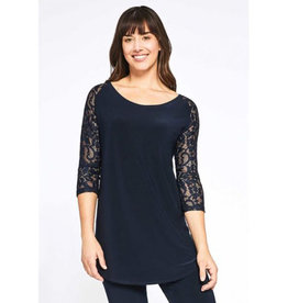 Sympli Lace Baseball Tunic - Navy