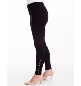 Sympli Diva Leggings with Regular Buttons - Black