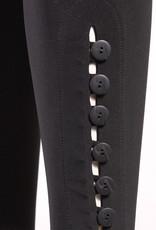 Sympli Diva Leggings with Regular Buttons - Black