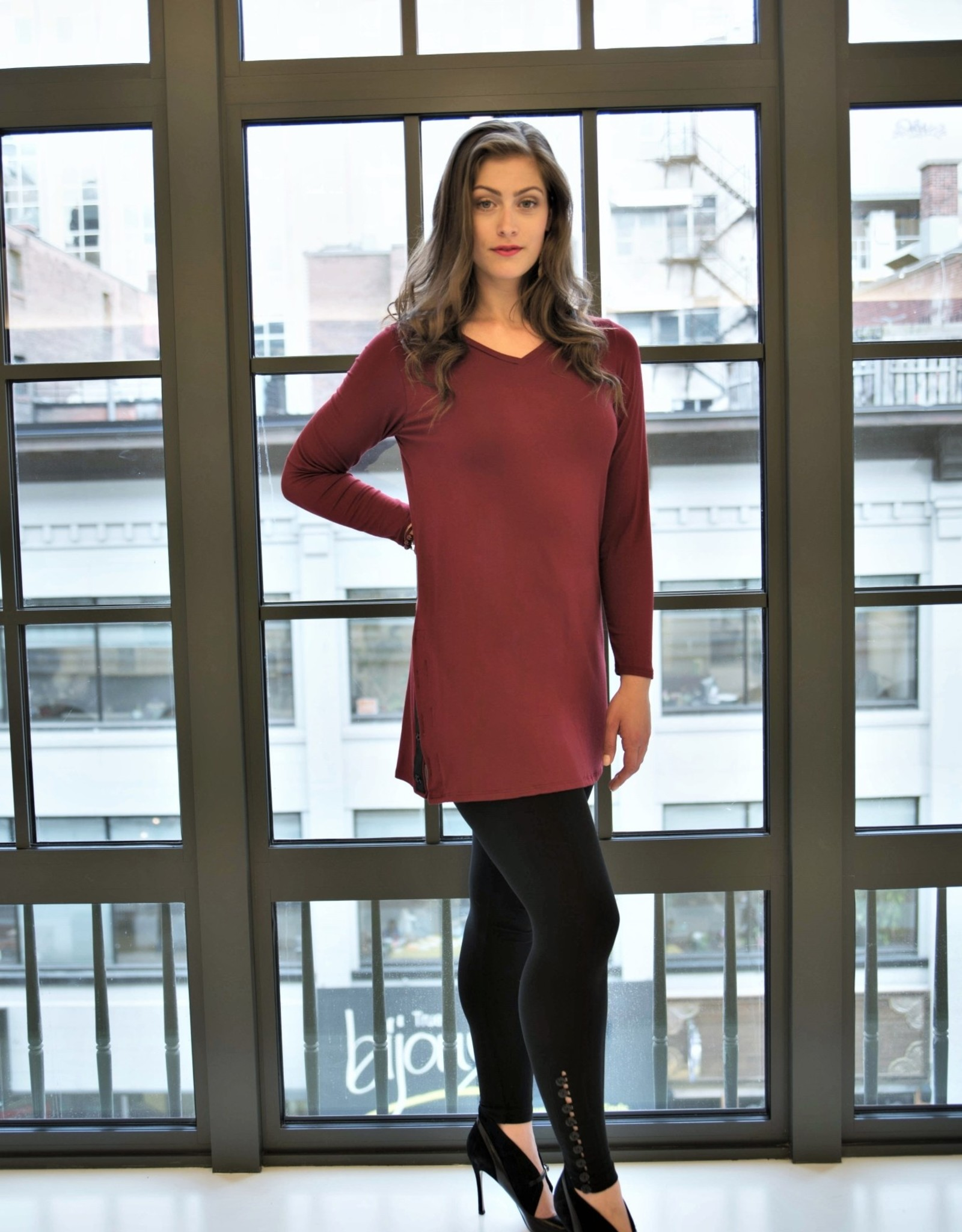 Reversible Sycamore Snap Tunic